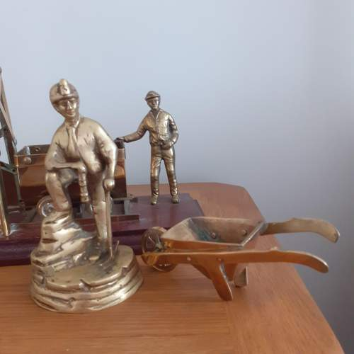 Large Brass Coal Mine Ornament image-2