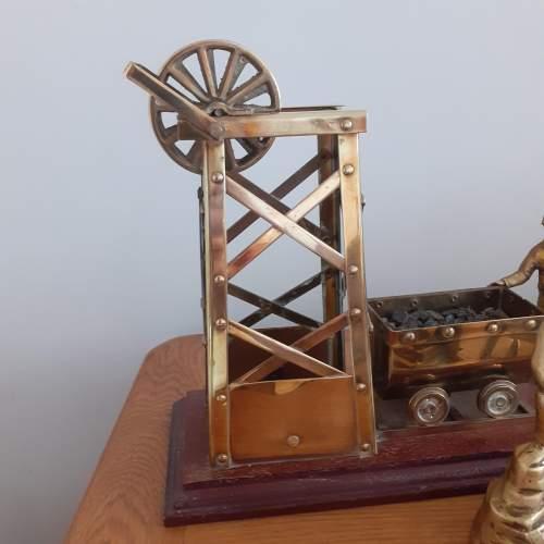 Large Brass Coal Mine Ornament image-4