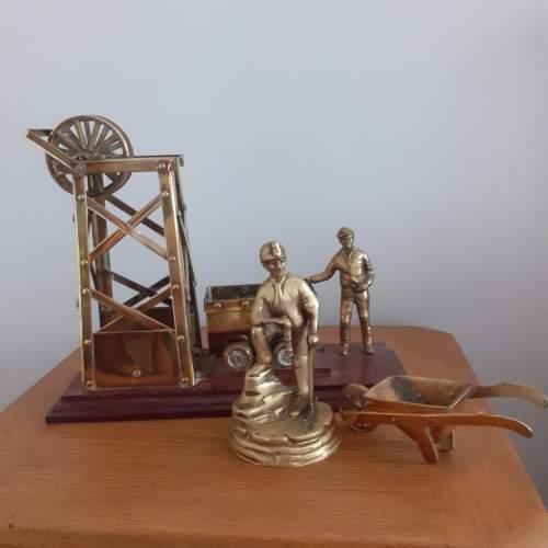 Large Brass Coal Mine Ornament image-5