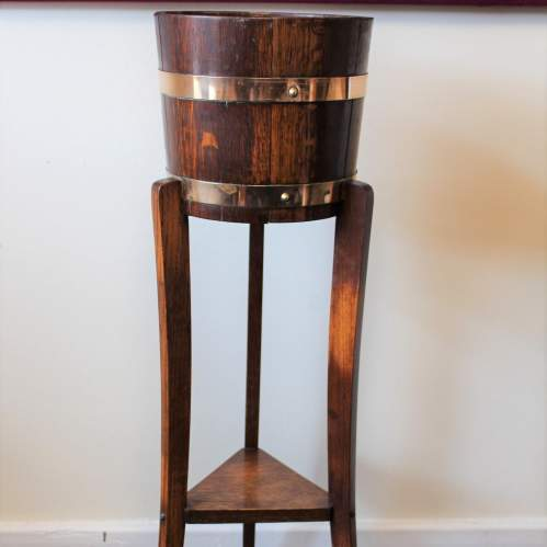 Oak Jardiniere Plant Stand by R A Lister Dursley image-1