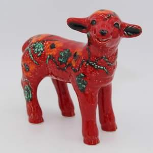 Anita Harris Art Pottery Lamb