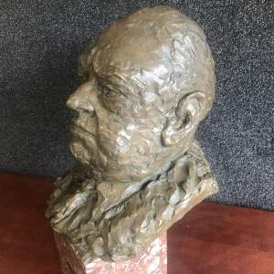 A Large Bust of  a Gentleman
