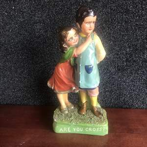 A Vintage Continental  Figurine Of Young Couple  - Are You Cross