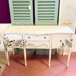 Chippy Hand Painted Botanical Sideboard