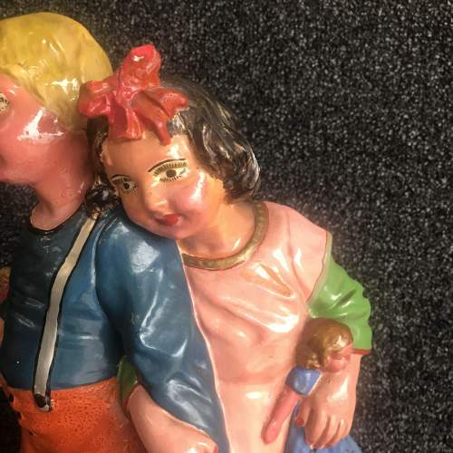 A Vintage Continental Figurine of  a Boy and Girl image-3
