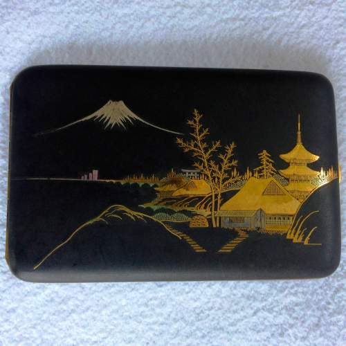 A Japanese Taisho Period Gilded Mixed Metal Case image-1