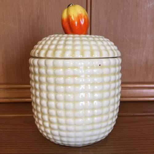 Clarice Cliff  Sweet Corn Preserve Pot image-1
