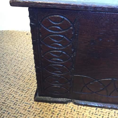 Oak Coffer Chest Circa 1800 image-3