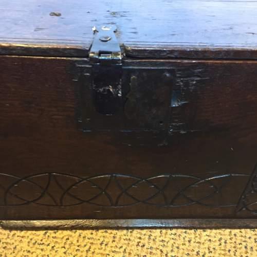 Oak Coffer Chest Circa 1800 image-4