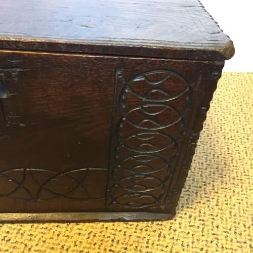 Oak Coffer Chest Circa 1800 image-5