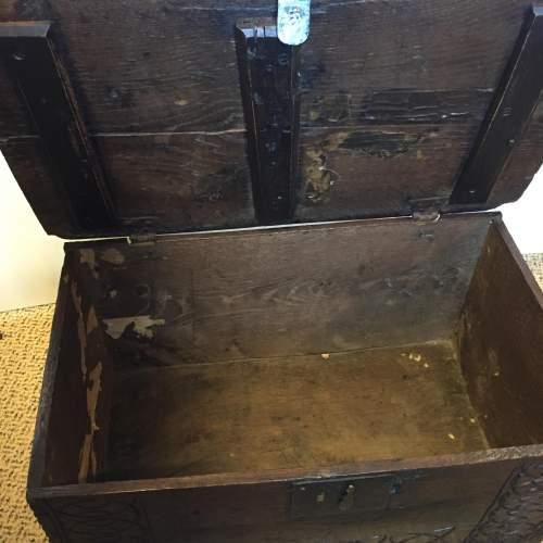 Oak Coffer Chest Circa 1800 image-6