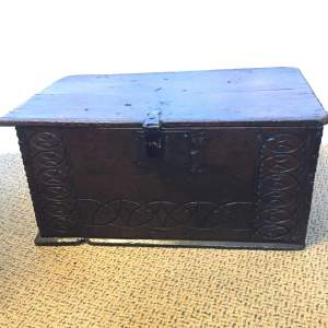 Oak Coffer Chest Circa 1800