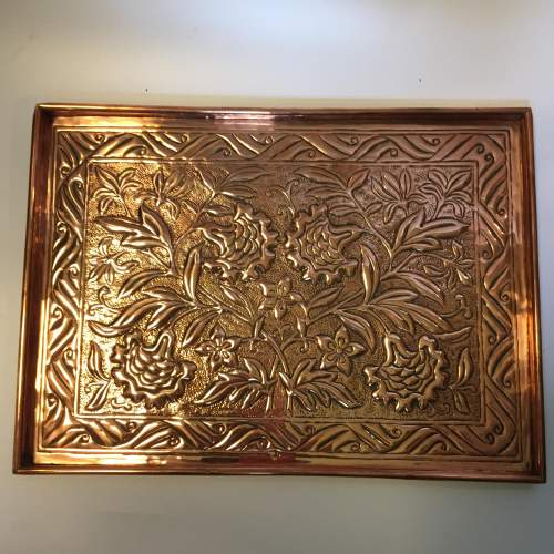 Arts and Crafts Keswick School of Industrial Art Copper Tray image-1