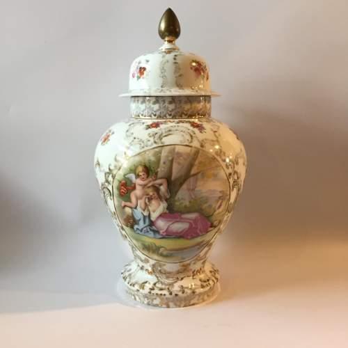 Dresden Coburg Ginger Jar Circa 1880 image-1