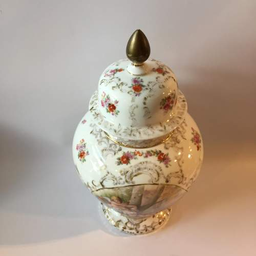 Dresden Coburg Ginger Jar Circa 1880 image-2