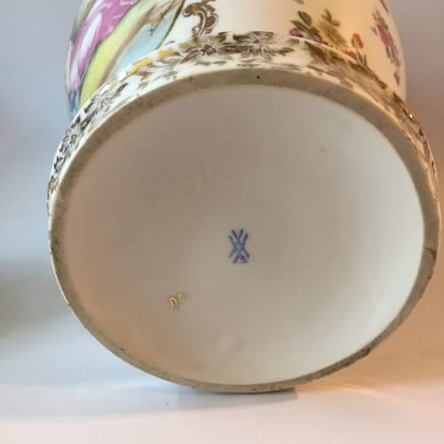 Dresden Coburg Ginger Jar Circa 1880 image-4