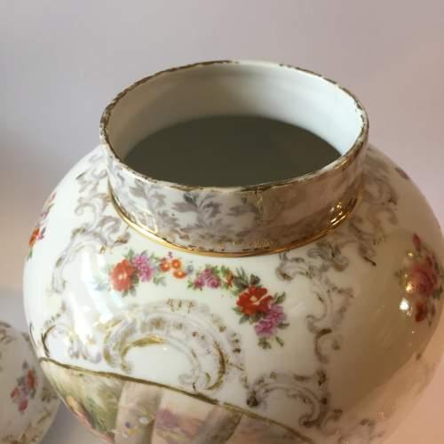 Dresden Coburg Ginger Jar Circa 1880 image-5