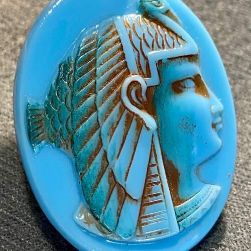 1930s Glass Egyptian Style Earclips image-2