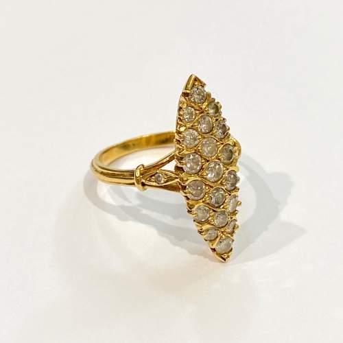 18ct Gold Diamond Marquis Ring image-2
