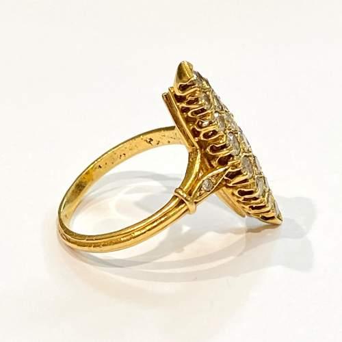 18ct Gold Diamond Marquis Ring image-3