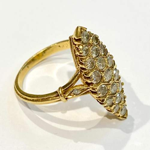 18ct Gold Diamond Marquis Ring image-1