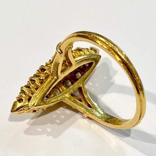 18ct Gold Diamond Marquis Ring image-4