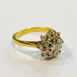Vintage 18ct Gold Diamond Cluster Ring