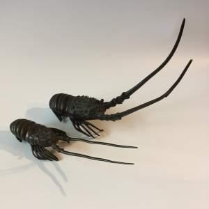 Japanese Meiji Period Bronze Crayfish