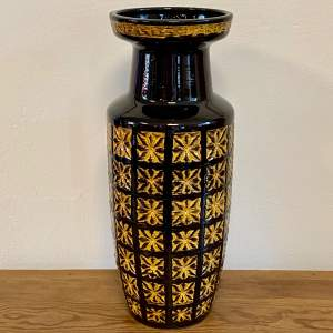Vintage West German Pottery Floor Vase by Scheurich