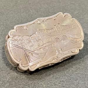 Very Rare Victorian Nathaniel Mills Silver Castletop Vinaigrette