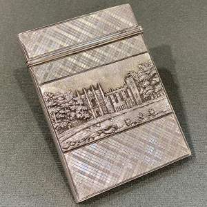 William IV Nathaniel Mills Silver Double Castletop Card Case