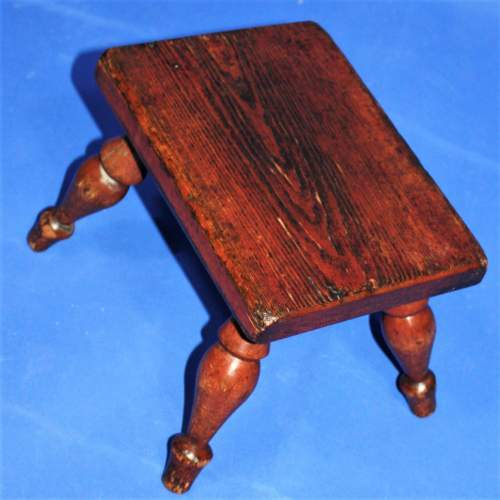 Country Made Stool with Turned Legs image-2