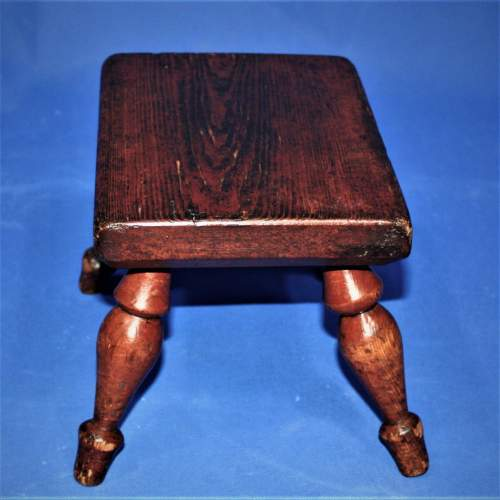 Country Made Stool with Turned Legs image-4