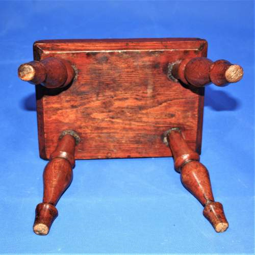 Country Made Stool with Turned Legs image-6