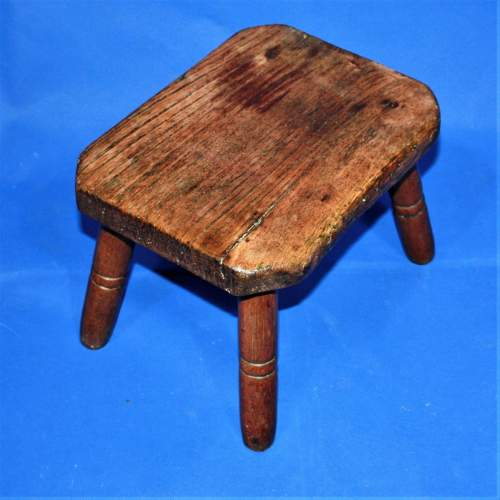 Country Made Footstool on Turned Legs image-2