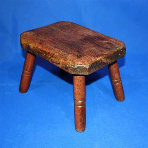 Country Made Footstool on Turned Legs image-4