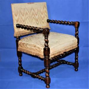 Early 20th Century Bobbin Turned Chair in the 17th Century Style