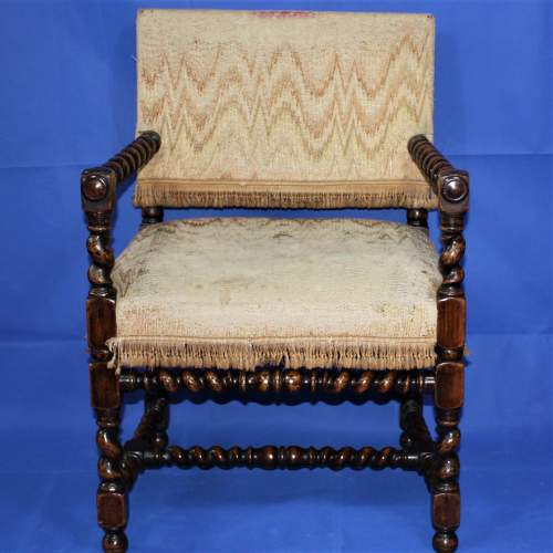 Early 20th Century Bobbin Turned Chair in the 17th Century Style image-2