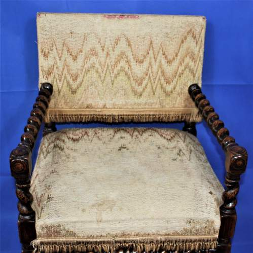 Early 20th Century Bobbin Turned Chair in the 17th Century Style image-3
