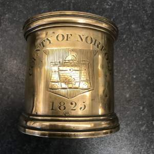 An 1825 County of Norfolk Imperial Quart Bronze Measure