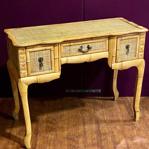 20th Century Marquetry Bamboo Table image-1