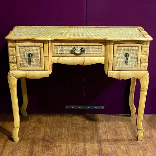 20th Century Marquetry Bamboo Table image-2