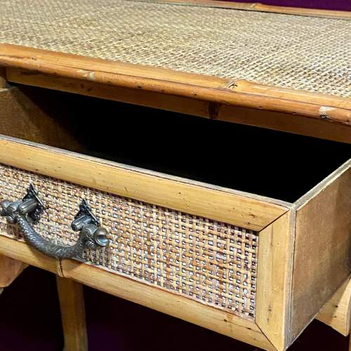 20th Century Marquetry Bamboo Table image-3