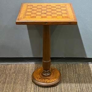 Victorian Turned Column Games Table