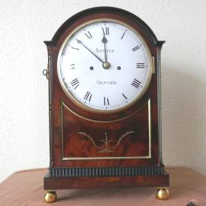 English Regency Bracket Clock by Sowter of Oxford
