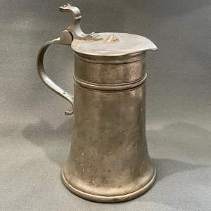 Mid 18th Century Pewter Table Flagon