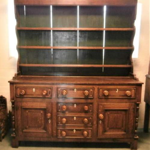 18th Century George III Oak Kitchen Dresser image-1