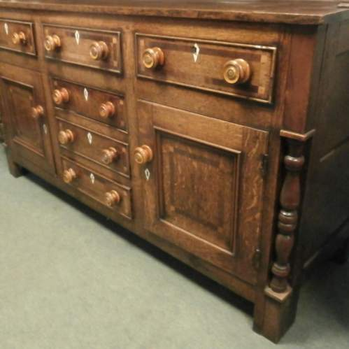 18th Century George III Oak Kitchen Dresser image-6