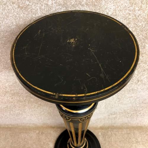 19th Century Ebonised And Parcel Gilt Pedestal image-6