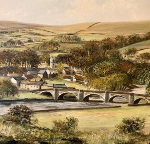 Dales Landscape Oil Painting by John Corcoran